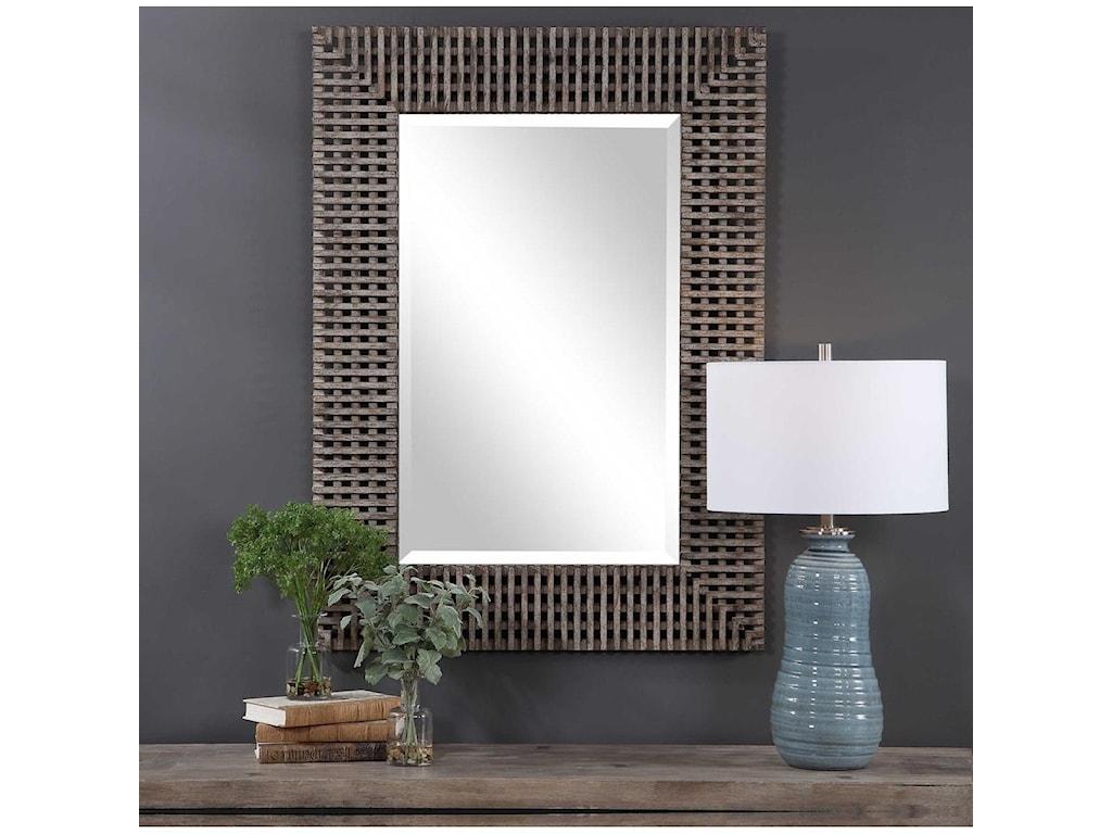 Uttermost MirrorsTarquin Crosshatched Mirror