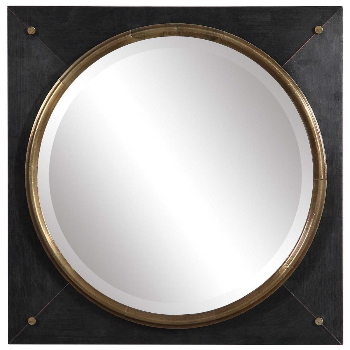 Uttermost Mirrors 09560 Tobiah Modern Square Mirror Thornton Furniture Vanity Mirrors
