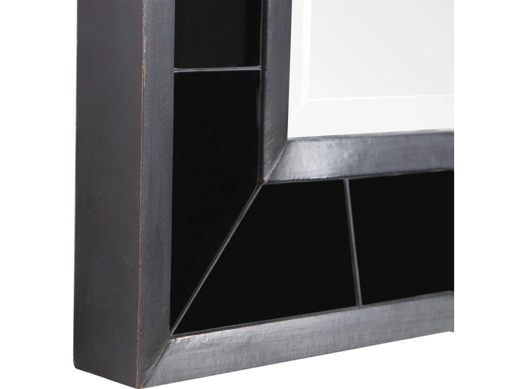 Uttermost MirrorsLonara Black Tile Mirror