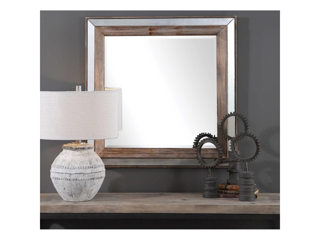 Uttermost MirrorsPike Farmhouse Square Mirror