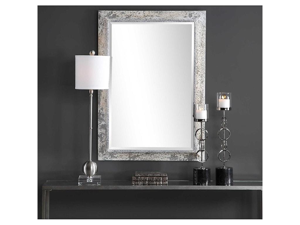 Uttermost MirrorsRaffi Aged Silver Mirror