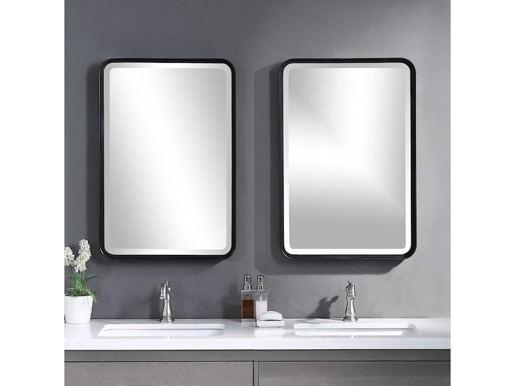 Uttermost MirrorsCroften Black Vanity Mirror