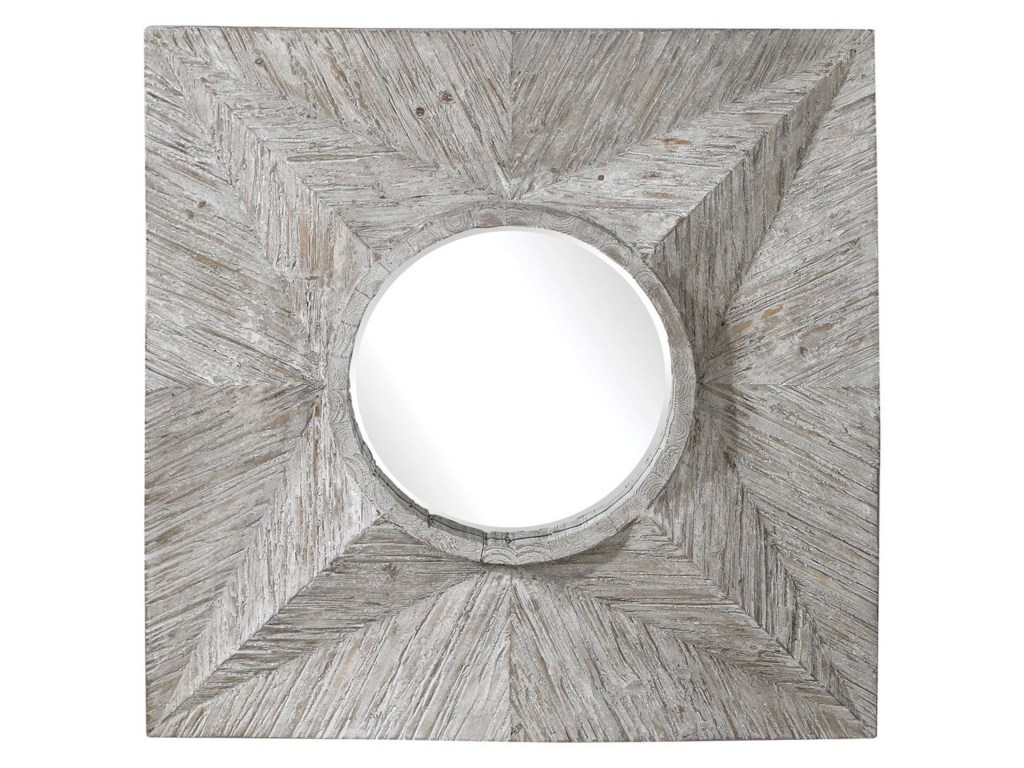 Uttermost MirrorsHuntington Light Gray Square Mirror