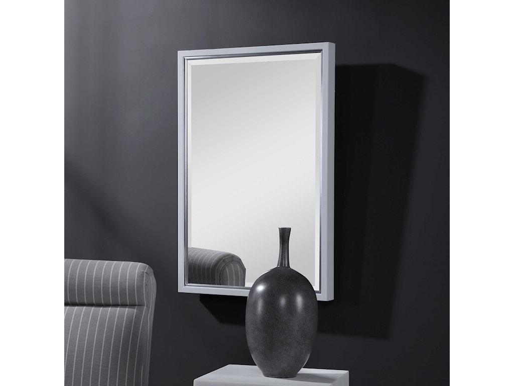 Uttermost MirrorsBarnaby White Vanity Mirror