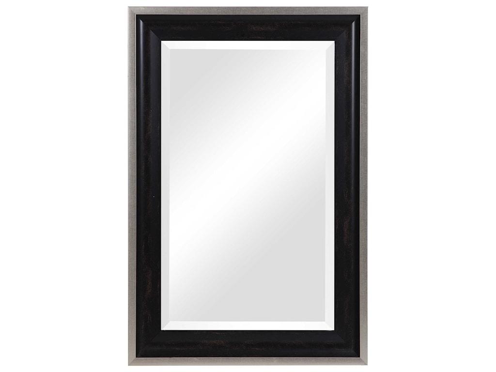 Uttermost MirrorsGroveland Rustic Black Mirror