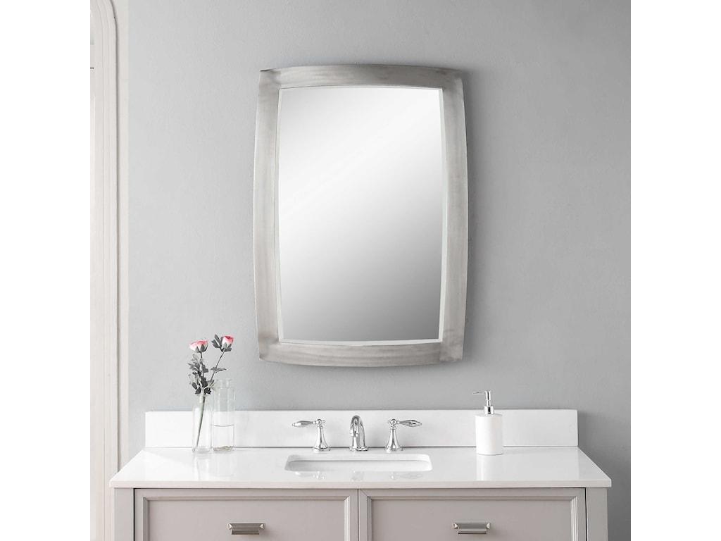 Uttermost MirrorsHaskill Brushed Nickel Mirror