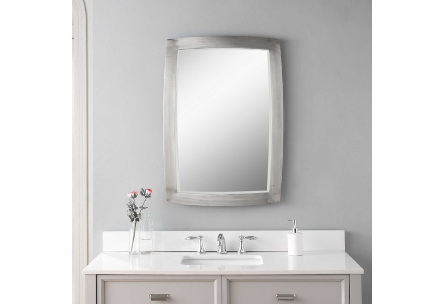 Uttermost Mirrors Haskill Brushed Nickel Mirror Rooms For Less Wall Mirrors