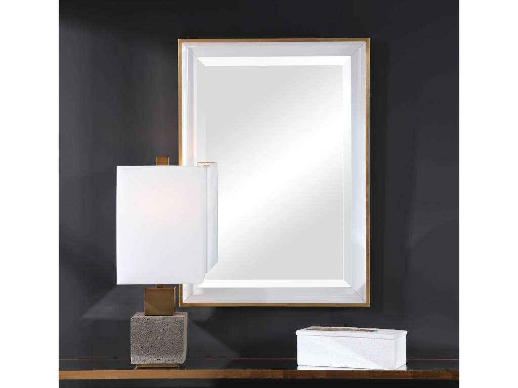 Uttermost MirrorsGema White Mirror
