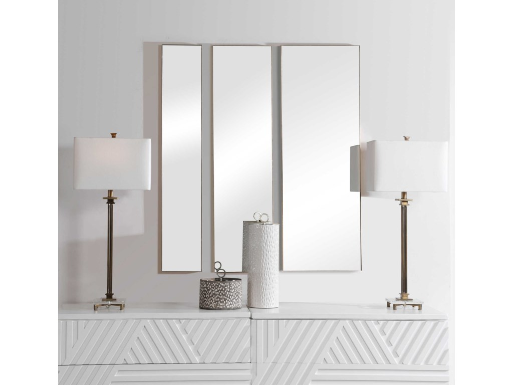 Uttermost MirrorsRowling Gold Mirrors, S/3