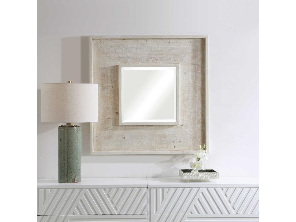 Uttermost MirrorsAlee Driftwood Square Mirror