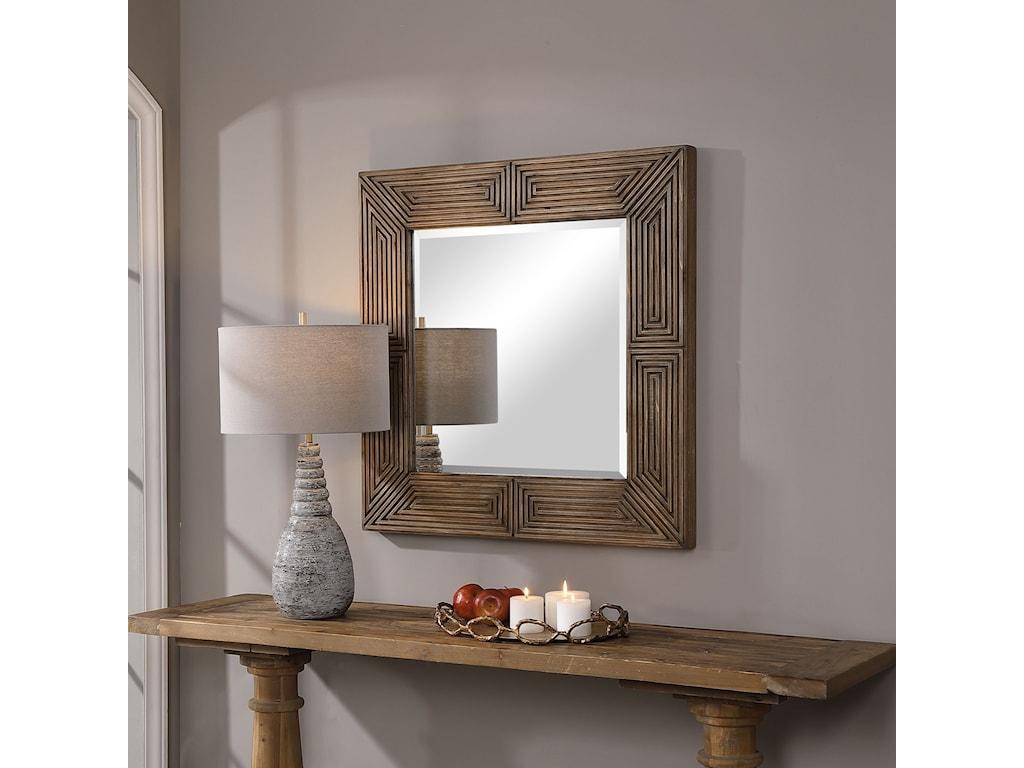 Uttermost MirrorsTraveler Geometric Square Mirror