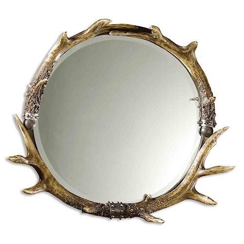 Uttermost Mirrors Stag Horn Mirror Round