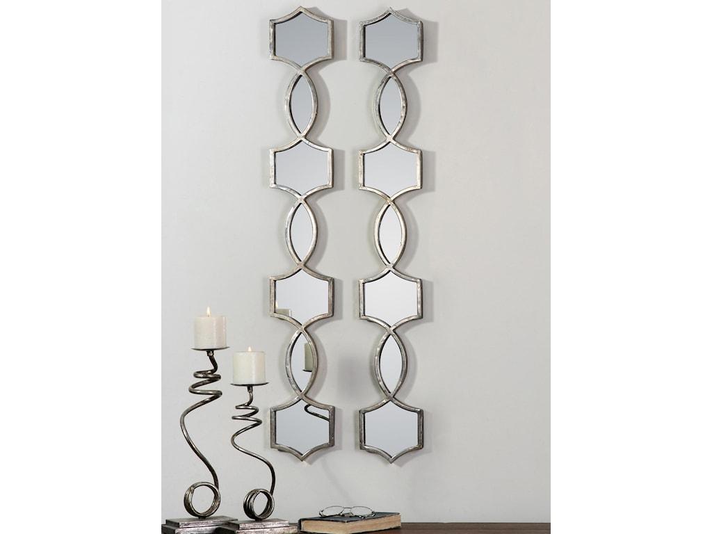 Uttermost MirrorsVizela Metal Mirrors Set of 2