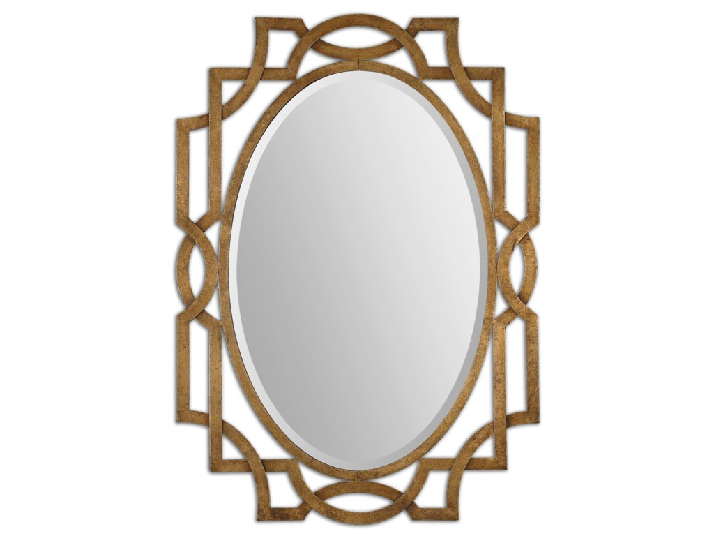 Uttermost MirrorsMargutta Gold Oval Mirror