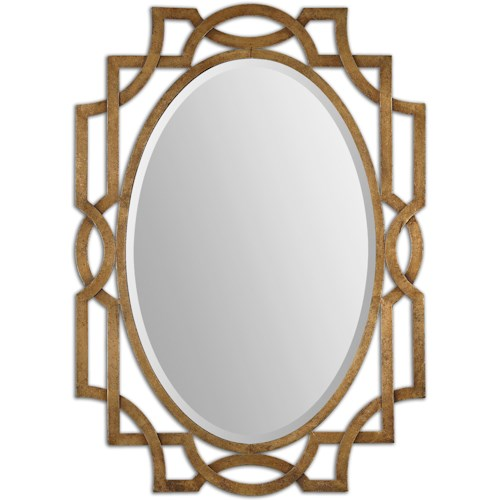 Uttermost Mirrors Margutta Gold Oval Mirror