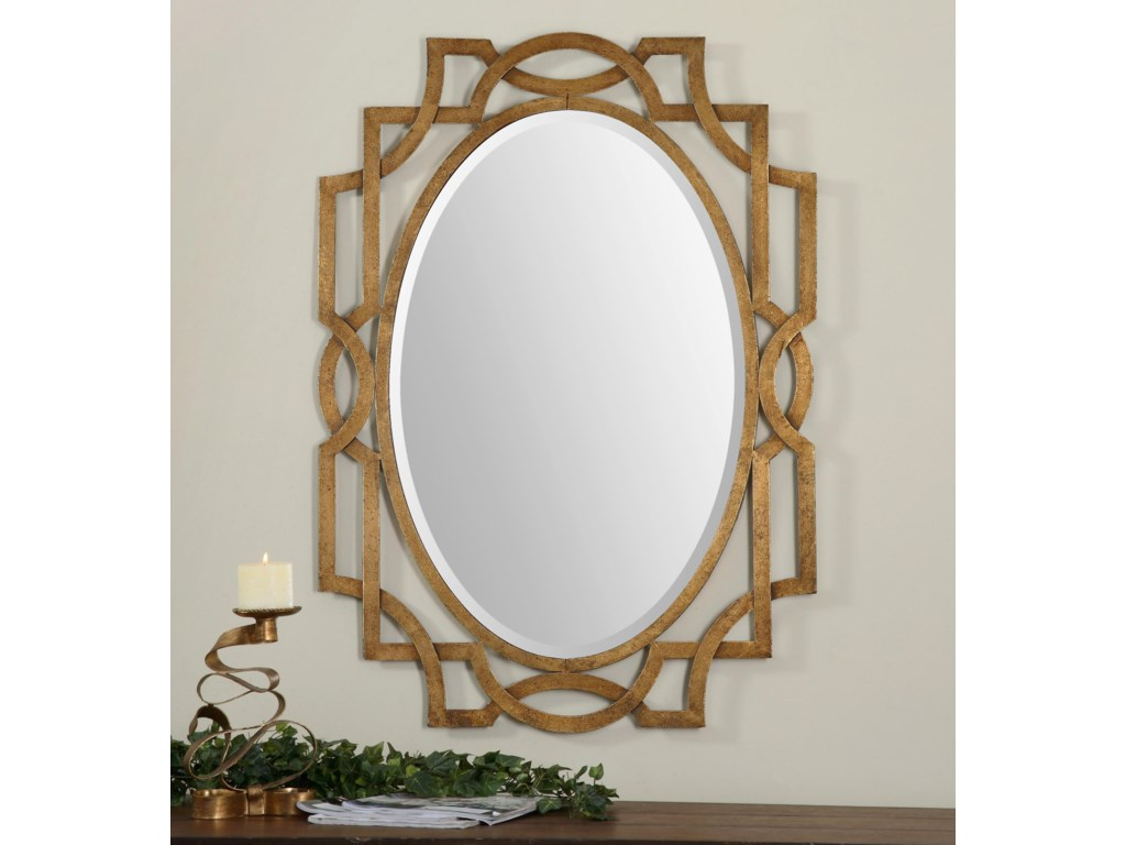 Uttermost Mirrors - OvalMargutta Gold Oval Mirror
