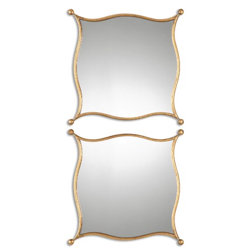 Uttermost Mirrors Sibley Gold Mirrors, S/2