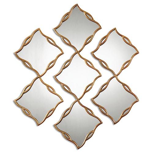 Uttermost Mirrors Terlizzi Gold Mirrors, S/3