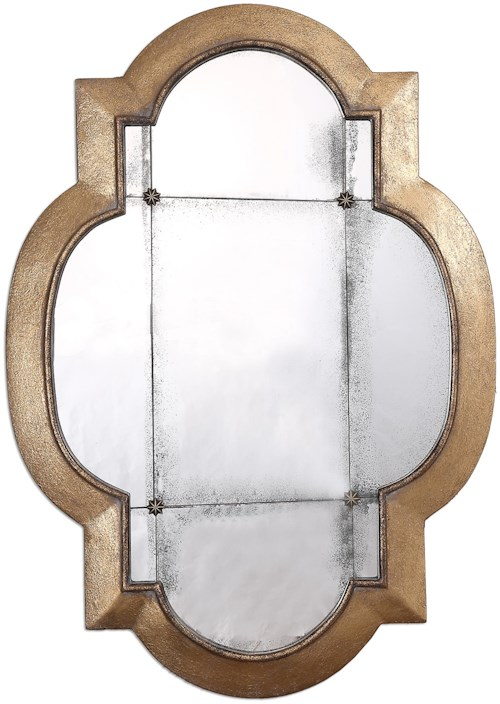 Uttermost Mirrors Andorra Gold Leaf Mirror
