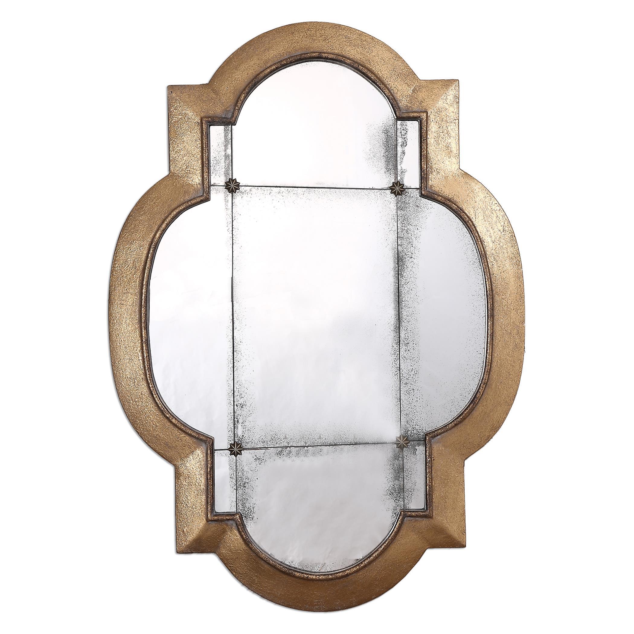 Uttermost MirrorsAndorra Gold Leaf Mirror ...