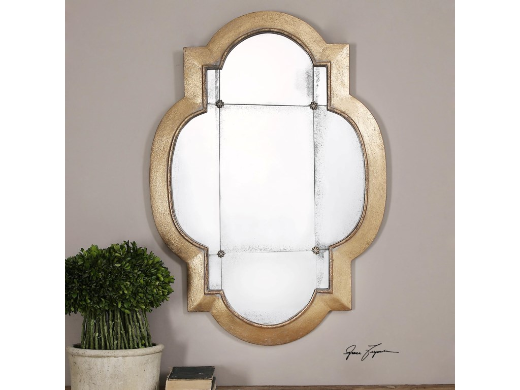 Uttermost MirrorsAndorra Gold Leaf Mirror