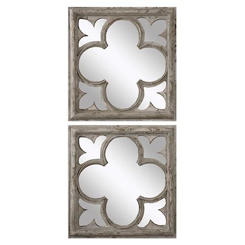 Uttermost Mirrors Vellauni Quatrefoil Mirrors S/2