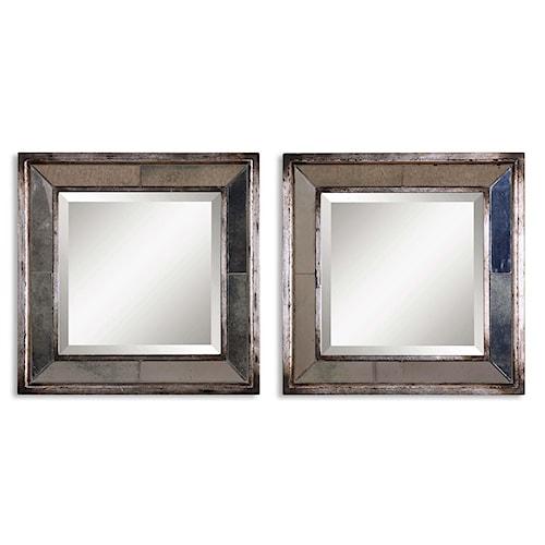 Uttermost Mirrors Davion Squares Set of 2