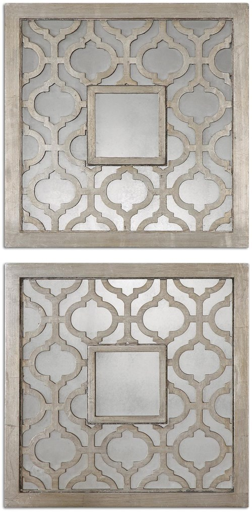 Uttermost Mirrors Sorbolo Squares Set of 2