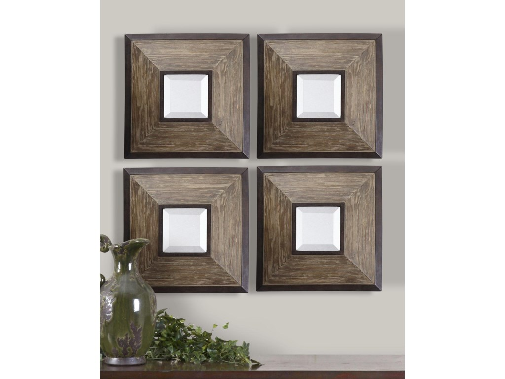 Uttermost MirrorsFendrel Squares Set of 4
