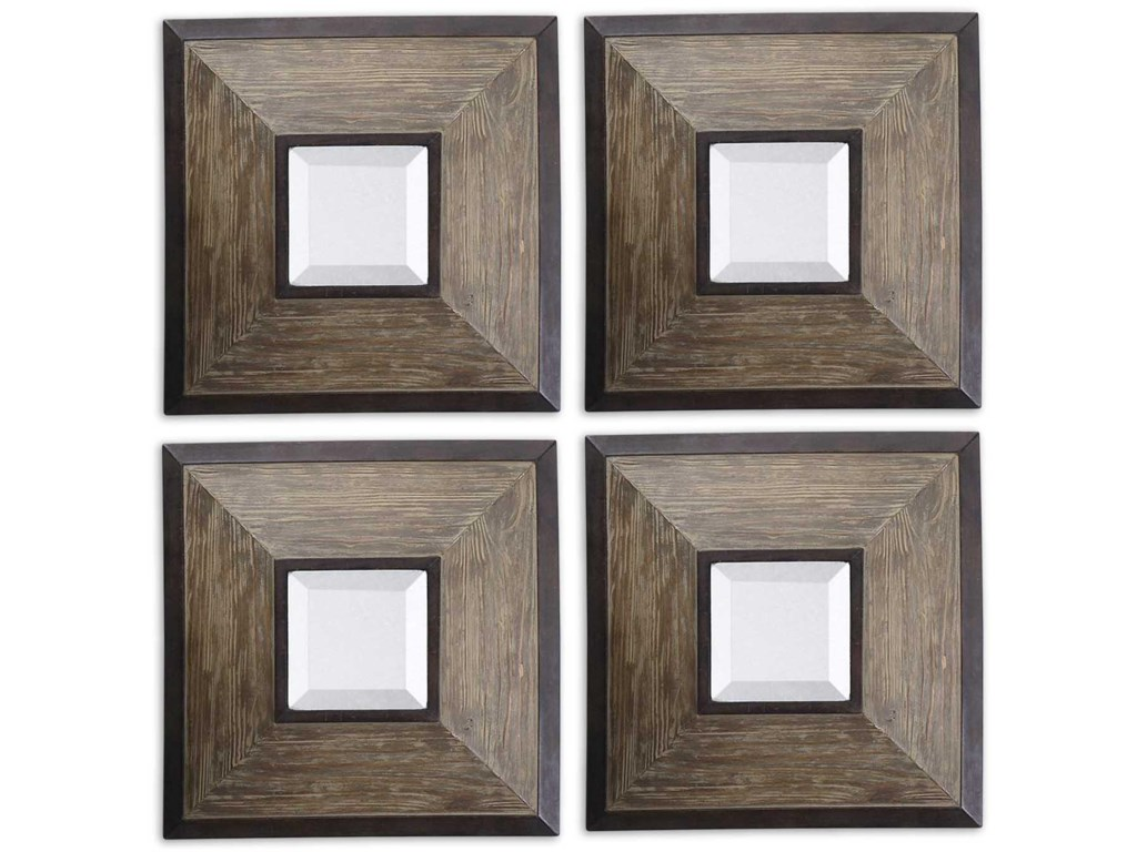 Uttermost Mirrors 13817 Fendrel Squares Set Of 4 Hudsons