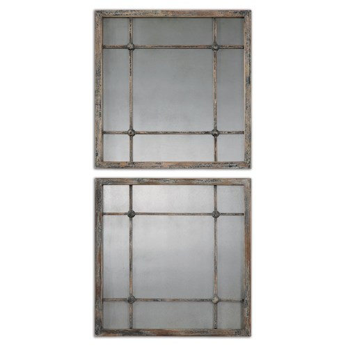 Uttermost Mirrors Saragano Square Mirrors Set of 2