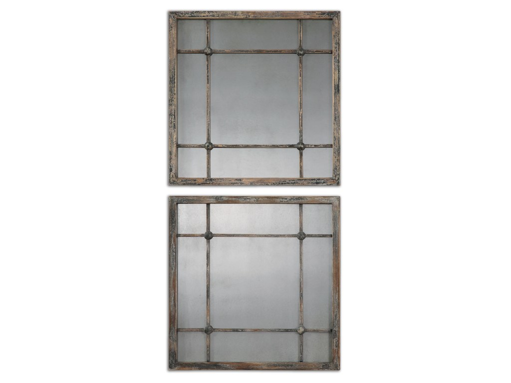 Uttermost MirrorsSaragano Square Mirrors Set of 2