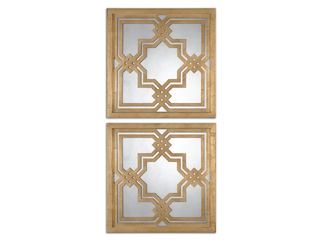 Uttermost MirrorsPiazzale Gold Square Mirrors Set of 2