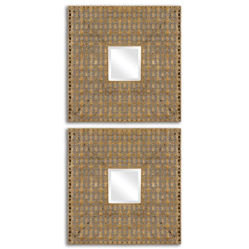 Uttermost Mirrors Adelina Square Mirrors, Set of 2