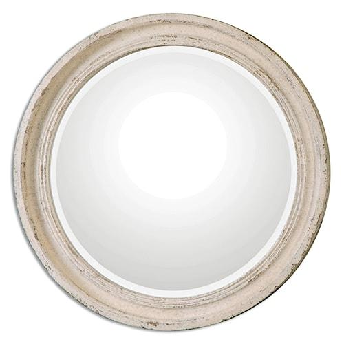 Uttermost Mirrors Busalla Ivory Round Mirror