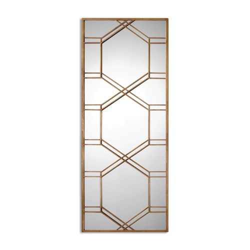 Uttermost Mirrors Kennis Gold Leaf Leaner Mirror