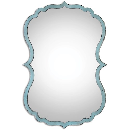Uttermost Mirrors Nicola Light Blue Mirror