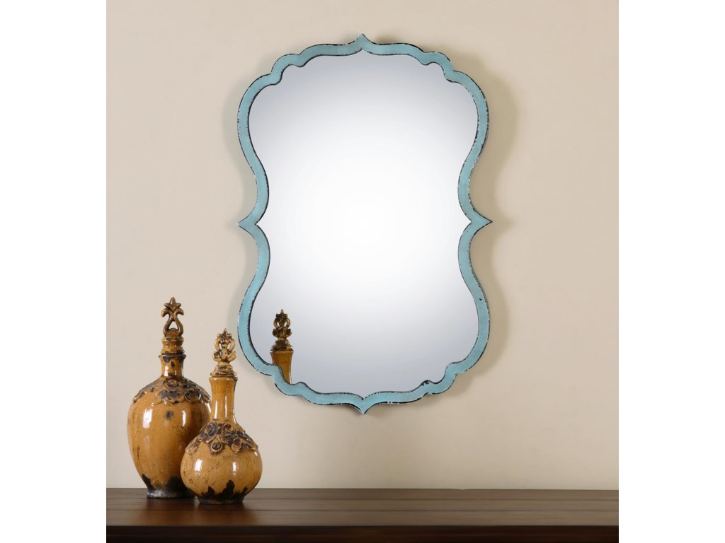 Uttermost MirrorsNicola Light Blue Mirror