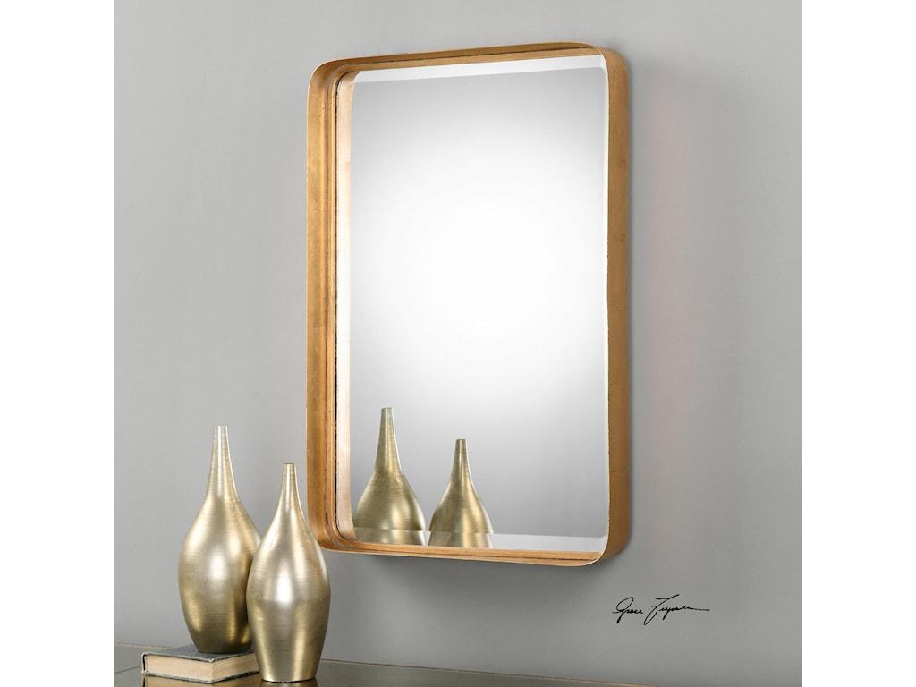 Uttermost MirrorsCrofton Antique Gold Mirror