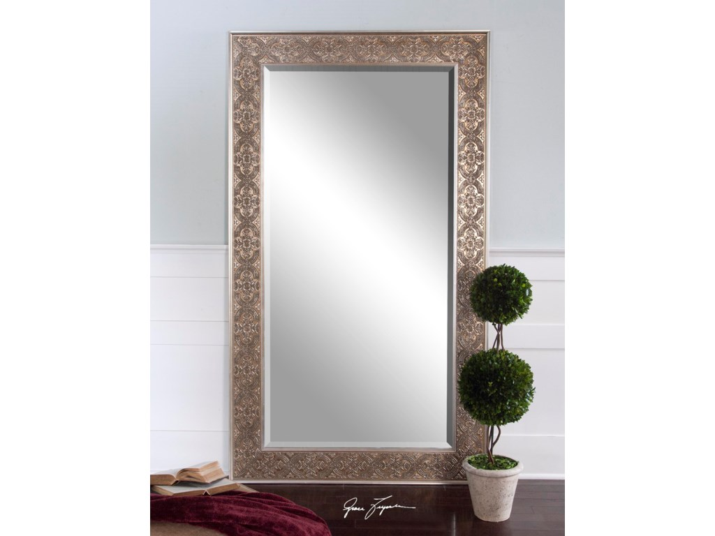 Uttermost MirrorsVillata Antique Silver Mirror