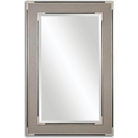 Alfred Oversized Gray-Tan Mirror