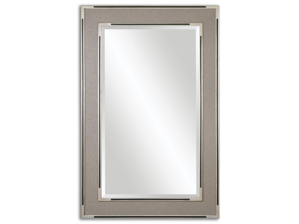 Uttermost MirrorsAlfred Oversized Gray-Tan Mirror