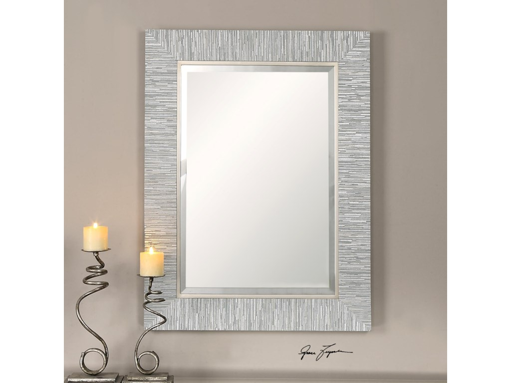 Uttermost MirrorsBelaya Gray Wood Mirror