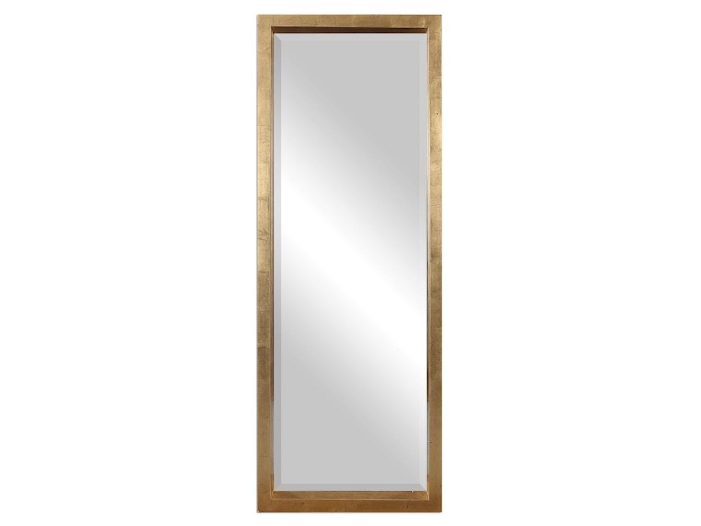 Uttermost MirrorsEdmonton Gold Leaner Mirror