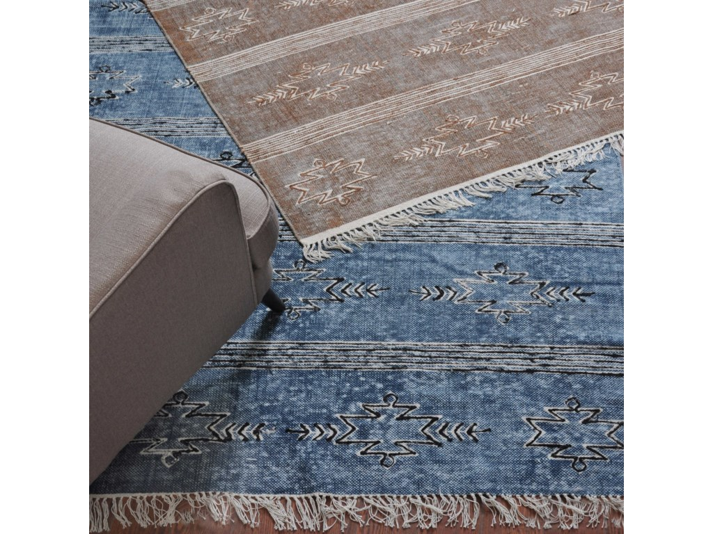 Uttermost RugsGamba Brown 5 x 8 Rug