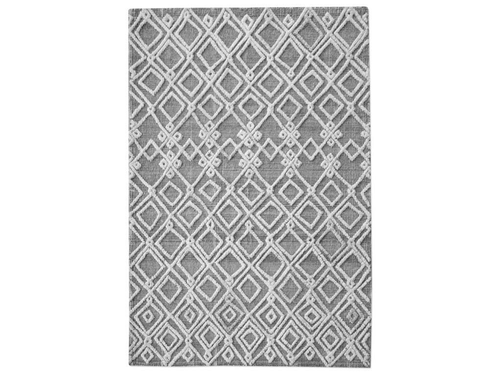 Uttermost RugsSieano Gray-Ivory 5 x 8 Rug