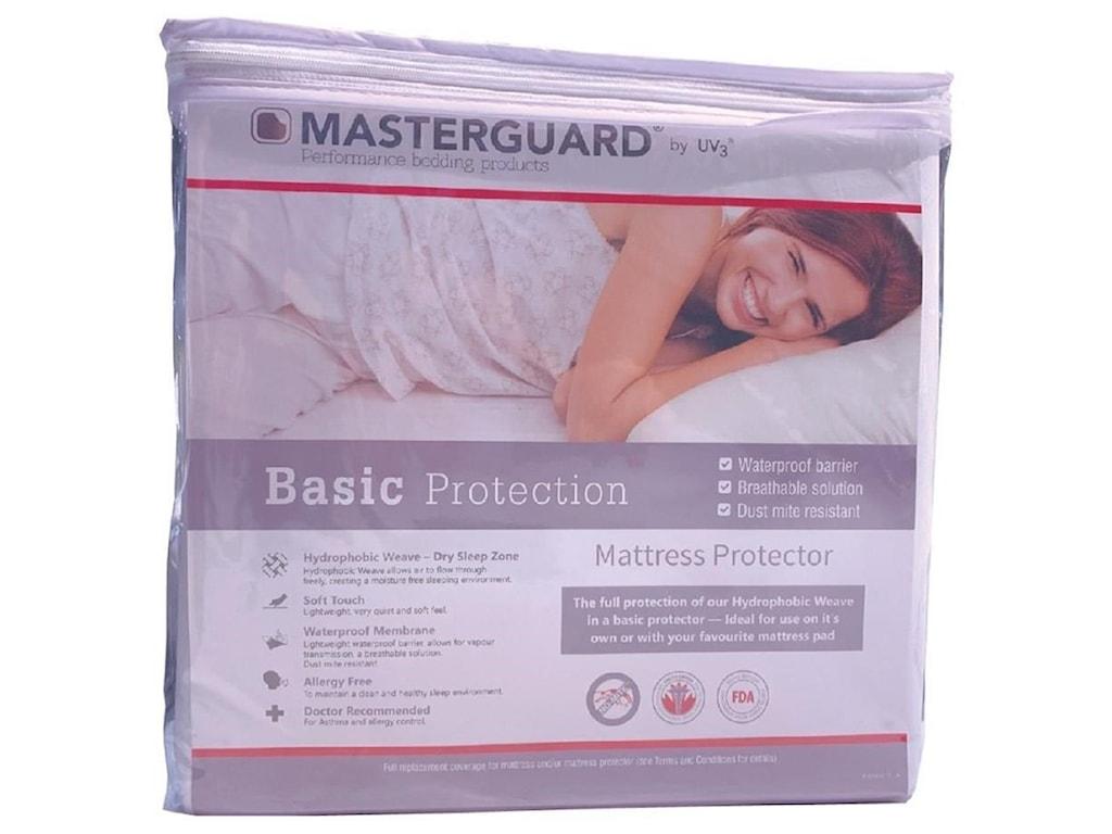 UV3 Masterguard Basic ProtectorTwin Basic Mattress Protector