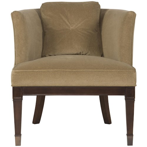 Vanguard Furniture Accent Chairs Drake Transitional Chair with Curved Tight Back