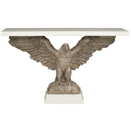 Vanguard Furniture Accent and Entertainment Chests and Tables Console Table with Eagle Base