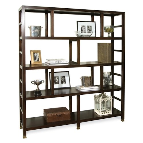 Vanguard Furniture Accent and Entertainment Chests and Tables Addison Bookcase with 4 Shelves and Ladder-Like Sides
